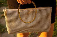White Chainmail Handbag , Versatile Metal Mesh Purse , Disco Chain Purse. $31.00, via Etsy.