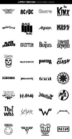 Thanks, @Cool Material, for compiling all these great rock band logos!