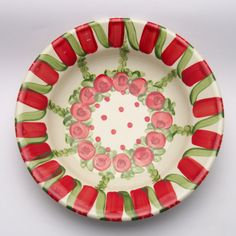 umar Teller, Decorative Plates, Tableware, Kitchen, Design, Home Decor, Red, Green, Tablewares