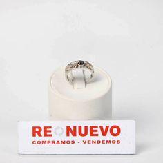 Anillo oro rodiado de segunda mano con brillantes y zafiros E273435   Tienda online de segunda mano en Barcelona Re-Nuevo
