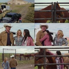 Georgie: What's Morgan's doing here. He's not in the rodeo.  Tim: Well, I thought I might hold a few more barrel racing clinics so I bought the horses you guys used.  Georgie: No way! Tim: I know it's crazy. I don't even have room for 'em! (10x11)
