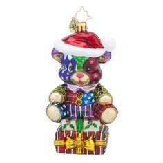 "Christopher Radko Ornament - ""Bear of Many Colors"""