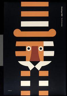 Tom Eckersley, Greetings 1983 poster