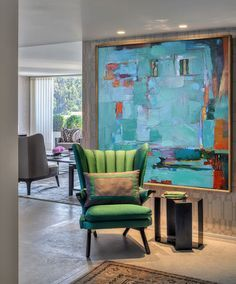 Large Acrylic Painting On Canvas Abstract Art Decor Large Contemporary Painting - By Biao, Celine Ziang Art Contemporary Abstract Art, Contemporary Interior, Abstract Painting Modern, Contemporary Stairs, Contemporary Building, Contemporary Cottage, Kitchen Contemporary, Contemporary Wallpaper, Contemporary Chandelier