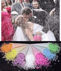 Ecofetti Biodegradable Confetti...aka...fairy dust =)  PERFECT for throwing at the bride & groom!