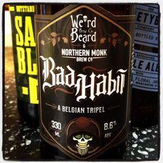 Wierd Beard Brew Co & Northern Monk Brew Co - Bad Habit - A Belgian Tripel - 8.6% ABV