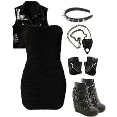 Designer Clothes, Shoes & Bags for Women Cute Emo Outfits, Scene Outfits, Punk Outfits, Teen Fashion Outfits, Gothic Outfits, Girl Outfits, Casual Outfits, Womens Fashion, Skater Outfits