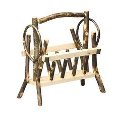 Amish Hickory Magazine Rack Basket