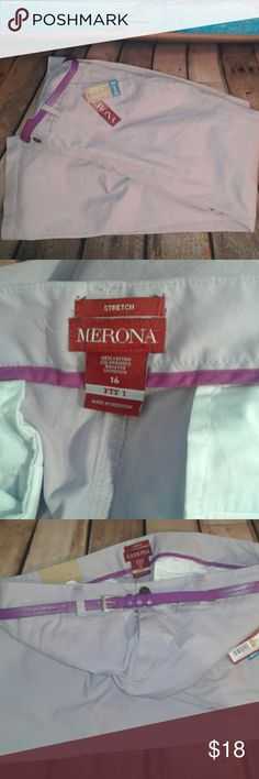 Merona Purple Pants With Belt These pants are brand new and have never been worn. They measure approximately 44 inches in total length. Merona Pants