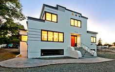 Art Moderne house near downtown Nanaimo.
