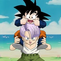 Goten & Trunks from Dragon Ball Z OhEmGee they are always so adorable!