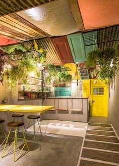 Barraco, Shanghai, 2017 - Q&A Architecture Design Research Design Café, Bar Interior Design, Restaurant Interior Design, Cafe Design, Restaurant Furniture, Design Ideas, Brazilian Restaurant, Architecture Design, Estilo Interior