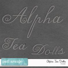 Alfabeto Tea Dolls (PU/S4H) by Pati Araujo