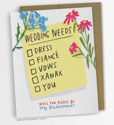 Wedding Needs Checklist Card