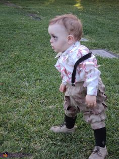 Zombie Baby - K really wants to do this....okay as long as he has a cute costume too :)