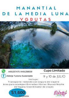 Nos vamos a la  Media Luna en San Luis Potosi con Alebrije Turismo Sustentable recuerden que es cupo limitado. #Datetiempo Compartan por favor