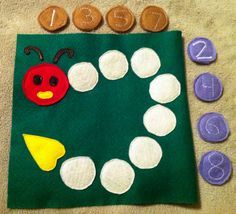Caterpillar Page (Numbers and Patterns) - uses hidden paperclips and magnets so…