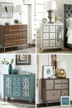 Get simple, sophisticated storage in your bedroom, dining room, or entryway with an accent chest of drawers. There's a piece for every style - midcentury modern, vintage, industrial, and rustic – in the Scott Living Collection. Discover your style with designer details from Jonathan and Drew Scott.