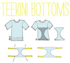 DIY Bikini #2- Upcycled Teekini | Justina Blakeney Est. 1979
