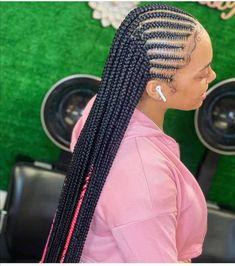 Feed In Braids Hairstyles, Braids Hairstyles Pictures, Cute Braided Hairstyles, Black Girl Braided Hairstyles, Dope Hairstyles, Protective Hairstyles, Cornrows Braids For Black Women, Black Girl Braids, Braids For Black Hair