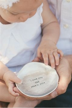 12 wonderful Father's Day gift ideas for new dads. (Love this personalized bowl from Lisa Leonard.)