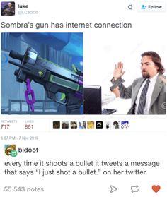 Overwatch Sombra's gun