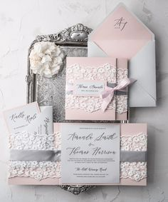 Wedding invitation with #lace