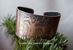 Etched copper tree of life