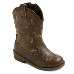 Toddler Girls' Chloe Classic Cowboy Western Boots Cat & Jack - Brown 6, Toddler Girl's