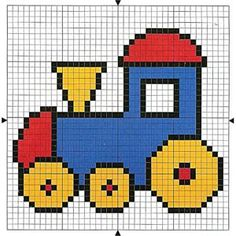 Bordado ponto Cruz | Transporte :: Baby Knitting Patterns, Knitting Charts, Hand Embroidery Patterns, Cross Stitch Designs, Cross Stitch Patterns, Quilt Patterns, Loom Patterns, Crochet Car, Crochet Cross