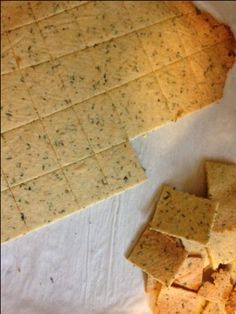 Garlic Herb Almond Crackers - sub flax seed egg for real egg