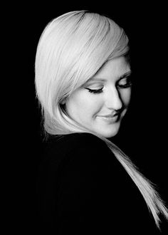Ellie Goulding black and white photoshoot