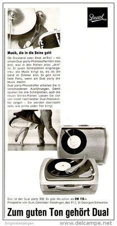 Original-Werbung/Inserat/ Anzeige 1959 - DUAL PLATTENSPIELER PARTY 300  - ca. 105 x 210 mm