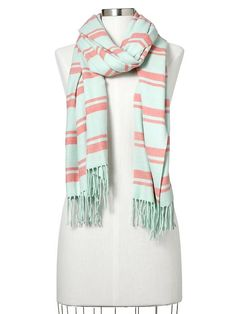 Cozy multi-stripe scarf | Gap
