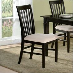 Lowest price online on all Atlantic Furniture Mission  Dining Chair in Espresso (Set of 2) - AD771101