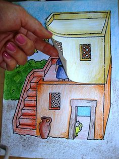 Ovelhinhas Lanudas: A chegada de um bebê knutselwerk huis Elisa Bible craft A house for Elisha