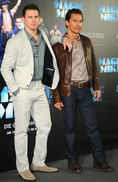 : Photo Channing Tatum and Matthew McConaughey attend a photo call for their film Magic Mike at The Hotel de Rome on Thursday (July in Berlin, Germany. The co-stars… Magic Mike Channing Tatum, Matthew Mcconaughey, Cannes, Chaning Tatum, Hot Country Boys, Indie Movies, Sharp Dressed Man, Christian Grey, Celebrity Pictures