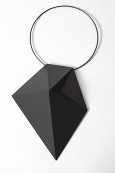 Untitled. Nacklace. Black pollyamid.