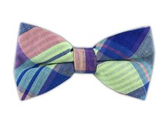Furlong Plaid - Key Lime/Serene Blue (Cotton Bow Ties) | Ties, Bow Ties, and Pocket Squares | The Tie Bar