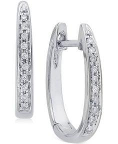 Channel-Set Diamond Hoop Earrings in Gold ct. White Gold Diamond Earrings, Diamond Hoop Earrings, White Gold Diamonds, Colored Diamonds, Diamond Jewelry, Gold Gold, Mini Hoop Earrings, Buy Earrings, Fashion Earrings
