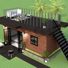 Tiny House Loft, Tiny House Living, Rest House, Tiny Houses, Shipping Container Home Designs, Shipping Container Cabin, Shipping Container Buildings, Shipping Container Interior, Converted Shipping Containers