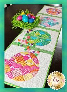 Patchwork Easter Egg Table Runner Pattern
