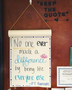 Monday came too hard and fast after a week off of work ? this weeks keep the quote inspiration courtesy of the greatest showman which I finally saw over the weekend! also blaring the soundtrack in my classroom ? Class Quotes, Education Quotes, Me Quotes, House Quotes, Inspirational Quotes For Kids, Motivational Quotes, Soundtrack, Yearbook Quotes, Quote Board