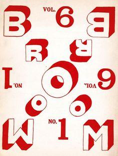 Broom: An International Magazine of the Arts - Vol.6:1 - 1923 / cover design by El Lissitsky / via Denis Masharov