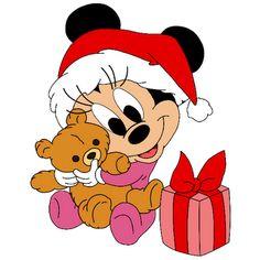 Disney Babies Clip Art | Cartoon Christmas Clip Art Mickey Mouse E Amigos, Baby Mickey, Mickey Mouse And Friends, Mickey Minnie Mouse, Walt Disney, Cute Disney, Disney Mickey, Mickey Christmas, Christmas Cartoons