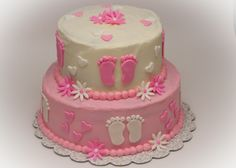 Pink Baby Shower Cakes Girls