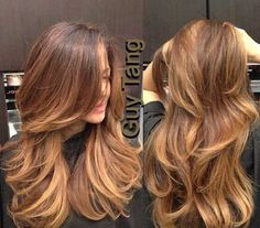 Trendy Hair Highlights : Chocolate – Caramel Ombre by Guy Tang. I'm obsessed with his ombre technique… Hairstyles For Layered Hair, Haircuts For Long Hair With Layers, Long Layered Haircuts, Long Hair Cuts, Hairstyles Haircuts, Long Hair Styles, Long Hair Short Layers, Straight Hair, Hair Color Caramel
