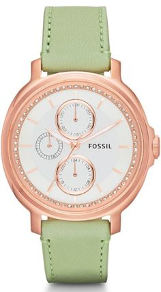 Fossil Watches, Women's Chelsey Multifunction Leather Watch - Sage #ES3357