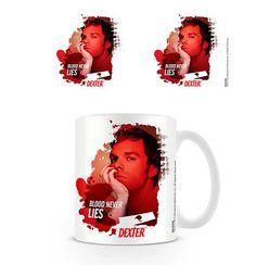 Taza Dexter, sangre  Taza de cerámica basada en la serie de Tv Dexter.