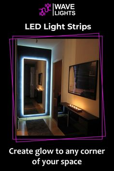 Who knew creating little glowy corner would be that easy and so aesthetically pleasing. LED strip lights does just that. Click here to order! Led Light Strips, Led Strip, Alexa Echo, Nook And Cranny, App Control, Cutting Tables, Get The Party Started, Gaming Setup, Free Wifi